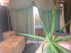 Creative Chakra Spa Couples Cabana with hydrotherapy spa